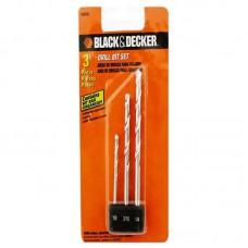 JOGO DE BROCA 3PC BLACK E DECKER
